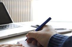 Pisać notatkach Zdjęcie Royalty Free