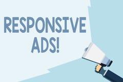 Pisa? nutowemu seansowi Wyczulonych reklamach Biznesowa fotografia pokazuje Automatycznie przystosowywa form? i format dostosowyw ilustracji
