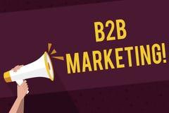 Pisa? nutowym pokazuje B2B marketingu Biznesowa fotografia pokazuje marketing produkty biznesy lub inne organizacje ilustracji