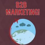 Pisa? nutowym pokazuje B2B marketingu Biznesowa fotografia pokazuje marketing produkty biznesy lub inne organizacje royalty ilustracja