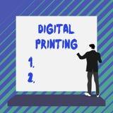 Pisa? nutowym pokazuje Cyfrowego druku Biznesowa fotografia pokazuje cyfrowych zasadzonych wizerunki bezpośrednio rozmaitość środ royalty ilustracja