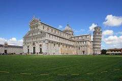Pisa, Piazza dei miracoli and leaning tower Stock Photo