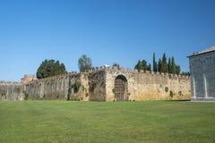 Pisa, piazza dei Miracoli, sławny katedra kwadrat zdjęcie royalty free