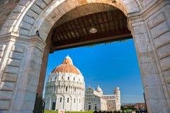 Pisa, Piazza deimiracoli. Royalty-vrije Stock Afbeelding