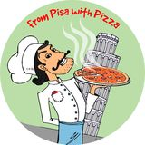 From Pisa with Pizza Royalty Free Stock Photo