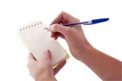 pisać pusty notepad Fotografia Royalty Free