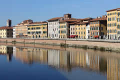 Pisa. Reflection colorful and symmetrical in Pisa Royalty Free Stock Photography