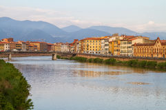 Pisa and river Arno. Royalty Free Stock Images