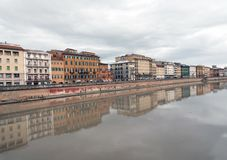 Pisa river, Italy Royalty Free Stock Image