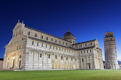 Pisa's Cathedral Square with the Tower of Pisa and the Cathedral Royalty Free Stock Photo