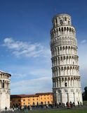 Pisa's leaning tower #2. Pisa's tower and dome in a sunny day stock photos