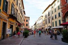 Pisa shopping street Stock Images