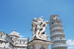 Pisa, square of miracles, tower and monuments Royalty Free Stock Image