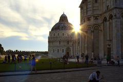 Pisa sunset Italy Royalty Free Stock Images