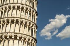 Pisa (Toscana) - la torre di piegamento fotografia stock