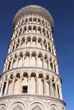 The Pisa tower. The leaning tower in Pisa, Italy the campanile, or freestanding bell tower, of the cathedral of the Italian city of Pisa and the Duomo (Cathedral Royalty Free Stock Photo