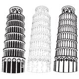 Pisa tower. Vector image of Pisa tower Royalty Free Stock Images