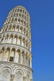 Pisa tower. The campanile (bell tower) is located behind the cathedral. The construction began in 1173 and took place in three stages over the course of 177 royalty free stock photos
