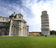 Pisa tower and cathedral Royalty Free Stock Photography