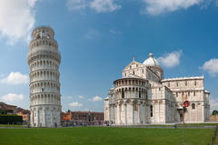 Pisa tower and cathedral Royalty Free Stock Photos