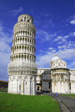 Pisa tower and cathedral stock photography