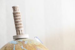 Pisa Tower on globe Stock Photography