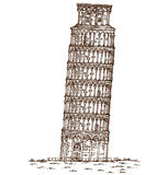 Pisa tower hand draw Royalty Free Stock Photography