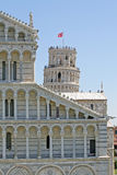 Pisa tower hanging in the square of miracles Stock Photo