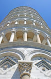Pisa tower hanging in the square of miracles Stock Image