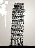 Pisa Tower Illustration Royalty Free Stock Images
