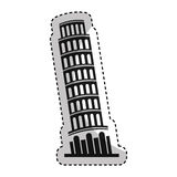 Pisa tower isolated icon Royalty Free Stock Photos