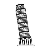 Pisa tower isolated icon Royalty Free Stock Photography