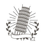 Pisa tower isolated icon Royalty Free Stock Photo
