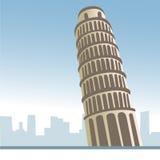 Pisa tower, italy royalty free illustration