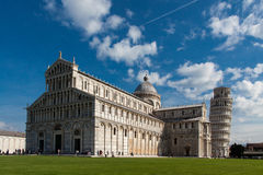 Pisa tower. Leaning Tower of Pisa, Italy and the Cathedral Royalty Free Stock Image