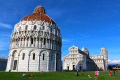 Pisa tower and miracle square Royalty Free Stock Image