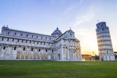 Pisa tower morning sunrise Royalty Free Stock Image