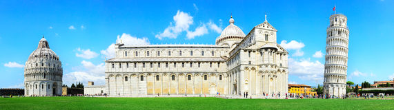 Pisa Tower. Piazza dei Miracoli complex with the leaning tower of Pisa , Italy Royalty Free Stock Images