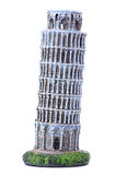 Pisa Tower souvenir. Souvenir Leaning Tower of Pisa on a white background Royalty Free Stock Image