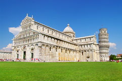 Pisa tower square Royalty Free Stock Photo