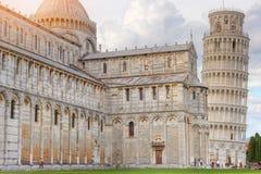 Pisa Tower at sunset, Tuscany, Italy Stock Photos