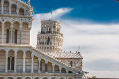Pisa tower (torre pendente). Photo of Pisa tower from the roof Stock Images