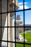 Pisa tower view from Battistero. Piazza del Duomo, Italy Royalty Free Stock Image