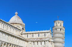 Pisa Tower view from miracle square. Pisa, Italy. Pisa Tower view from miracle square. Pisa, Italy Royalty Free Stock Photo
