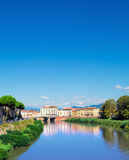 Pisa town, Italy. View from one of Pisas bridges. Italy Stock Photos