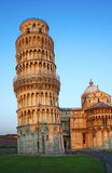 Pisa town monuments. By the morning sun stock images