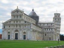 14 06 2017 Pisa, Tuscany, Italien: Lutande torn av Pisa nära katt Royaltyfri Foto
