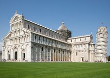 Pisa, Tuscany, Italy. The Cathedral and the leaning tower of the Piazza dei Miracoli in Pisa, Tuscany, Italy Royalty Free Stock Image