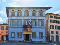 Pisa / Tuscany / Italy / May 2018 : Palazzo Blu is a center for. Temporary exhibitions and cultural activities in Pisa Italy royalty free stock images