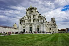 Pisa, Tuscany / Italy - 09.15.2017: View of the Pisa Cathedral in the square of piazza royalty free stock photo